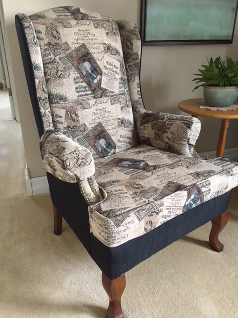 chair with old image pattern