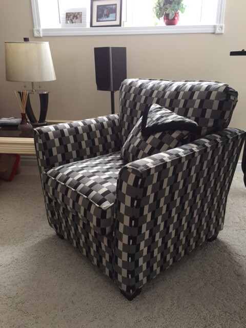 checkered pattern chair