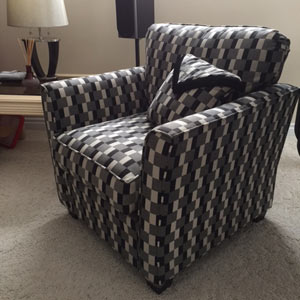 Chair with pattern
